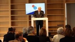 """Ο Πρόεδρος της Δημοκρατίας Προκόπης Παυλόπουλος μιλάει στο Φόρουμ με θέμα """"Ελλάδα: οι δρόμοι της ελπίδας"""" , στο ΚΠΙΣΝ, Παρασκευή 9 Φεβρουαρίου 2018. ΑΠΕ-ΜΠΕ/Αλέξανδρος Μπελτές"""