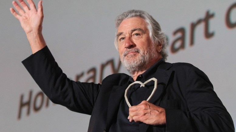 US actor Robert De Niro waves to audience at Open Air Cinema. EPA, JASMIN BRUTUS
