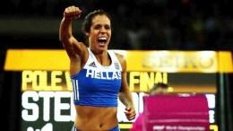 H Ολυμπιονίκης Κατερίνα Στεφανίδη. EPA/DIEGO AZUBEL