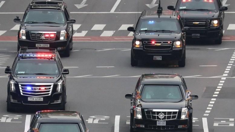 US President Donald J. Trump motorcade. EPA, YONHAP