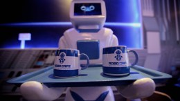 File Photo: A robot serves drinks EPA,LUONG THAI LINH