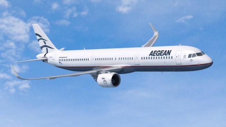 Αεροσκάφος Airbus A321 με τα χρώματα της Aegean. AΠΕ-ΜΠΕ