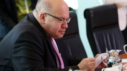 File Photo: German Minister of Economy and Energy, Peter Altmaier, checks his notes as he takes part in the weekly cabinet meeting, in Berlin, Germany. EPA, FELIPE TRUEBA