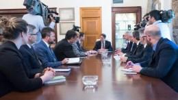 Ο Πρόεδρος της Δημοκρατίας κ. Νίκος Αναστασιάδης δέχεται τον Υφυπουργό Εξωτερικών των ΗΠΑ, αρμόδιο για Ευρωπαϊκές και Ευρασιατικές Υποθέσεις κ. Wess Mitchell, Λευκωσία 16 Μαρτίου 2018. ΓΤΠ, Σ.ΙΩΑΝΝΙΔΗΣ
