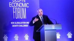 Ο πρωθυπουργός της Βουλγαρίας Boyko Borisov στο Οικονομικό Φόρουμ Δελφών.. ΑΠΕ-ΜΠΕ, ΟΡΕΣΤΗΣ ΠΑΝΑΓΙΩΤΟΥ