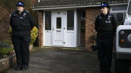 File Photo: Police stand outside of an address believed to be the home of former Russian spy Sergei Skripal in Salisbury, Britain 06 March 2018. EPA, NEIL HALL