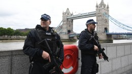 File Photo: British police on dutyl during a vigil for the victims of the London Bridge terror attacks by the City Hall in London, Britain. EPA, FACUNDO ARRIZABALAGA *** Local Caption *** 53568746
