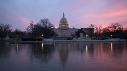 FILE PHOTO. The US Capitol dome at sunrise. EPA, SHAWN THEW