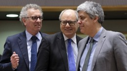 FILE PHOTO. Luxembourg's Finance Minister Pierre Gramegna Malta Finance Minister Edward Scicluna, President of the Eurogroup , Portuguese Finance Minister Mario Centeno during European Finance Ministers' meeting at the EU Council, in Brussels, Belgium. EPA, OLIVIER HOSLET