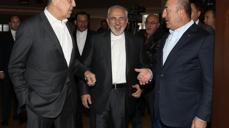 FILE PHOTO, Turkish Foreign Minister Mevlut Cavusoglu (R), Russian Foreign Minister Sergey Lavrov (L) and Iranian Foreign Minister Cevad Zarif (C) attend a meeting in Antalya, Turkey, 19 November 2017. EPA, CEM OZDEL TURKEY OUT, USA OUT, UK OUT, CANADA OUT, FRANCE OUT, SWEDEN OUT, IRAQ OUT, JORDAN OUT, KUWAIT OUT, LEBANON OUT, OMAN OUT, QATAR OUT, SAUDI ARABIA OUT, SYRIA OUT, UAE OUT, YEMEN OUT, BAHRAIN OUT, EGYPT OUT, LIBYA OUT, ALGERIA OUT, MOROCCO OUT, TUNISIA OUT