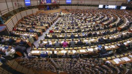 Photo File: European Parliament.   01 March 2018.  EPA, OLIVIER HOSLET