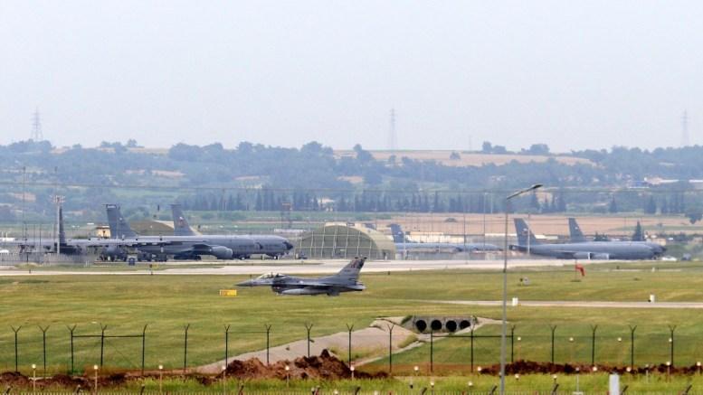 Armed forces aircraft seen at the air base in Incirlik, in Adana city, Turkey. EPA, MURAT KIBRITOGLU