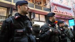 File Photo: Italian policemen Carabinieri Oon patrol. EPA, CLAUDIO ONORATI