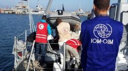 coast guard libya  Σκάφος της ακτοφυλακής της Λιβύης.  Photo via Twitter   @CoastGuardLIBYA