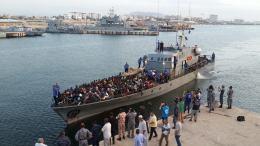 Photo File:  Σκάφος της Λιβυκής Ακτοφυλακής.  Photo Libyan Coast Guard