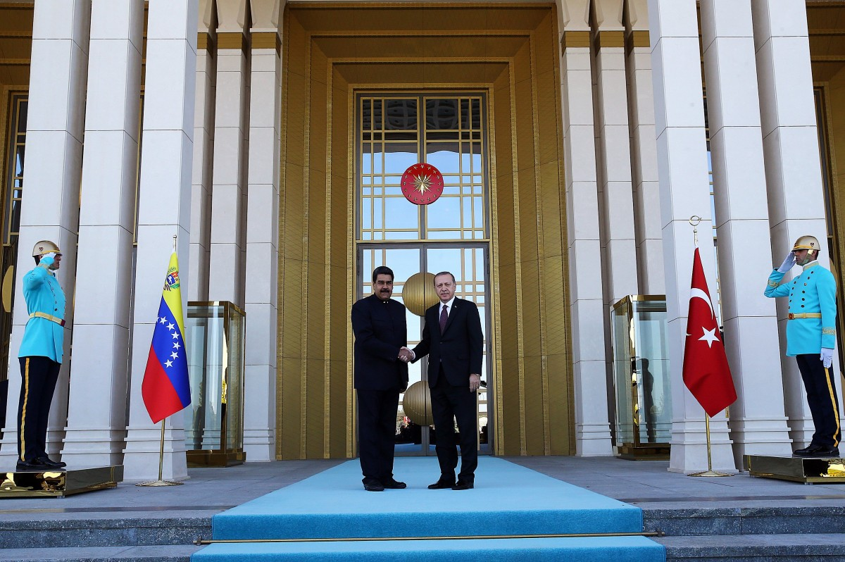 File Photo: A handout photo made available by Turkish President Press office shows Venezuelan President Nicolas Maduro (L) and Turkish President Recep Tayyip Erdogan (R) at the Presidential Palace in Ankara, Turkey. EPA, TURKISH PRESIDENT PRESS OFFICE HANDOUT HANDOUT EDITORIAL USE ONLY