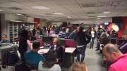Από την τελευταία σύσκεψη των  εργαζομένων του ΜEGA. Φωτογραφία Hellasjournal.com