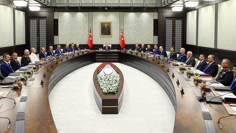 File Photo: Στιγμιότυπο από συνεδρίαση του Συμβουλίου Εθνικής Ασφαλείας (ΣΕΑ) της Τουρκίας.  Photo via https://www.mgk.gov.tr/
