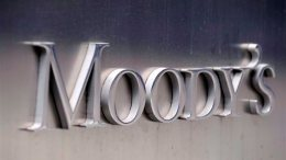 File Photo: Τhe Moody's logo outside the offices of Moody's Corporation in New York, New York, USA. EPA, ANDREW GOMBERT