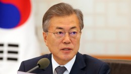 South Korean President Moon Jae-in speaks during a Cabinet meeting at the presidential office Cheong Wa Dae in Seoul, South Korea, 20 March 2018. EPA, YONHAP SOUTH KOREA OUT