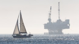 File Photo: An oil drilling rig is seen off the Pacific Ocean coastline. EPA, EUGENE GARCIA