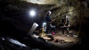 File Photo: Archaeologists work in a cave. EPA, Daniel Perez