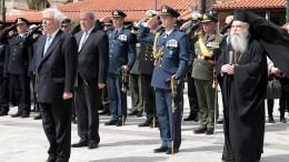 Ο Πρόεδρος της Δημοκρατίας Προκόπης Παυλόπουλος παρέστη στις εορταστικές εκδηλώσεις με αφορμή την επέτειο της έναρξης του απελευθερωτικού αγώνα του έθνους, στην Αρεόπολη, Σάββατο 17 Μαρτίου 2018. ΑΠΕ-ΜΠΕ, ΤΑΚΗΣ ΚΟΥΡΟΣ