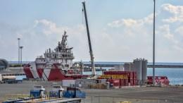File Photo: Υποστηρικτικό σκάφος του πλωτού γεωτρύπανου Saipem 12000 της ΕΝΙ στη Λεμεσό.  Σ.ΚΟΝΙΩΤΗΣ, ΚΥΠΕ