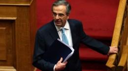 File Photo: Ο πρώην πρωθυπουργός Αντώνης Σαμαράς στη συζήτηση για τη συγκρότηση επιτροπής προκαταρκτικής εξέτασης για την υπόθεση NOVARTIS. ΑΠΕ-ΜΠΕ, ΟΡΕΣΤΗΣ ΠΑΝΑΓΙΩΤΟΥ