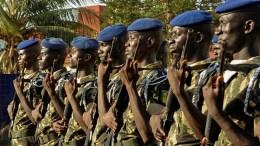 File Photo: Men of the Senegalese Police Training Headquarters in Dakar, Senegal. EPA, ALIOU MBAYE