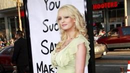 File Photo: US actress Stormy Daniels. EPA,NINA PROMMER
