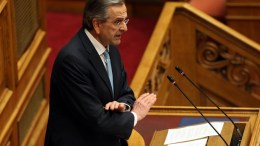 File Photo: Ο Αντώνης Σαμαράς στο βήμα της Βουλής ΑΠΕ-ΜΠΕ,ΟΡΕΣΤΗΣ ΠΑΝΑΓΙΩΤΟΥ