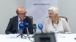 FILE PHOTO. O Συμπρόεδρος του ECR και η Πρόεδρος του Κινήματος Αλληλεγγύη Ελένη Θεοχάρους.  ΚΥΠΕ, ΣΤΑΥΡΟΣ ΚΟΝΙΩΤΗΣ