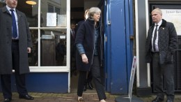 File Photo: British Prime Minister Theresa May. EPA STRINGER SHUTTERSTOCK OUT