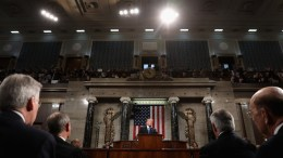 FILE PHOTO. US President Donald J. Trump (C) delivers the State of the Union address in the chamber of the US House of Representatives in Washington, DC, USA. EPA, WIN MCNAMEE