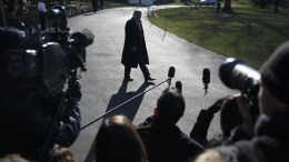 US President Donald J. Trump responds to questions on the departure of Rex Tillerson from the news media as he departs of the White House in Washington, DC, USA, 13 March 2018. EPA, SHAWN THEW