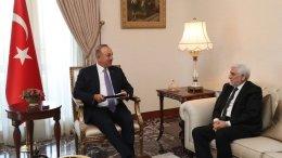 Foreign Minister Mevlüt Cavusoglu met with newly appointed Ambassador of Afghanistan Abdul Rahim Sayed Jan on 21 March 2018.Photo via mfa.gov.tr