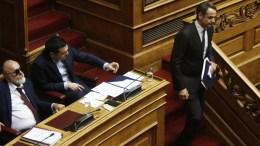 FILE PHOTO.  Ο πρόεδρος της ΝΔ Κυριάκος Μητσοτάκης στην Ολομέλεια της Βουλής. ΑΠΕ-ΜΠΕ,  ΑΛΕΞΑΝΔΡΟΣ ΒΛΑΧΟΣ