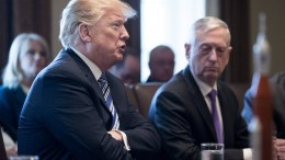 US President Donald J. Trump delivers remarks beside US Secretary of Defense Jim Mattis during a meeting with members of his Cabinet, in Washington, DC, USA, 08 March 2018. EPA, MICHAEL REYNOLDS