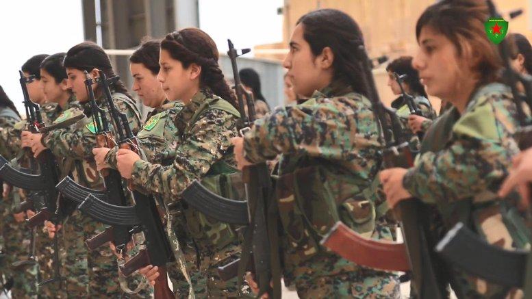 File Photo: Γυναίκες πολεμιστές του Κουρδικού YPG. Φωτογραφία via Twitter  YPJ ROJAVA @DefenseUnitsYPJ