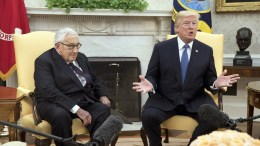 File Photo: US President Donald J. Trump delivers remarks to members of the news media while hosting former Secretary of State Henry Kissinger in the Oval Office of the White House, in Washington, DC, USA. EPA, MICHAEL REYNOLDS