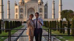 Η εκδρομή οργανώθηκε στο πλαίσιο της δεύτερης ημέρας της επίσημης επίσκεψης του προέδρου της Γαλλίας στην Ινδία.  Photo via Twitter