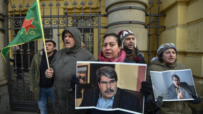 File Photo: Supporters of Sahim (Saleh) Muslim protest in front of the municipal court in Prague, Czech Republic EPA, MARTIN DIVISEK