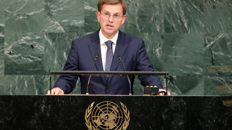 File Photo: Miro Cerar, Prime Minister of Slovenia, speaks during the General Debate of the 72nd United Nations General Assembly at UN headquarters in New York, New York, USA, 21 September 2017. The annual gathering of world leaders formally opened on 19 September 2017, with the theme, 'Focusing on People: Striving for Peace and a Decent Life for All on a Sustainable Planet.' EPA.ANDREW GOMBERT