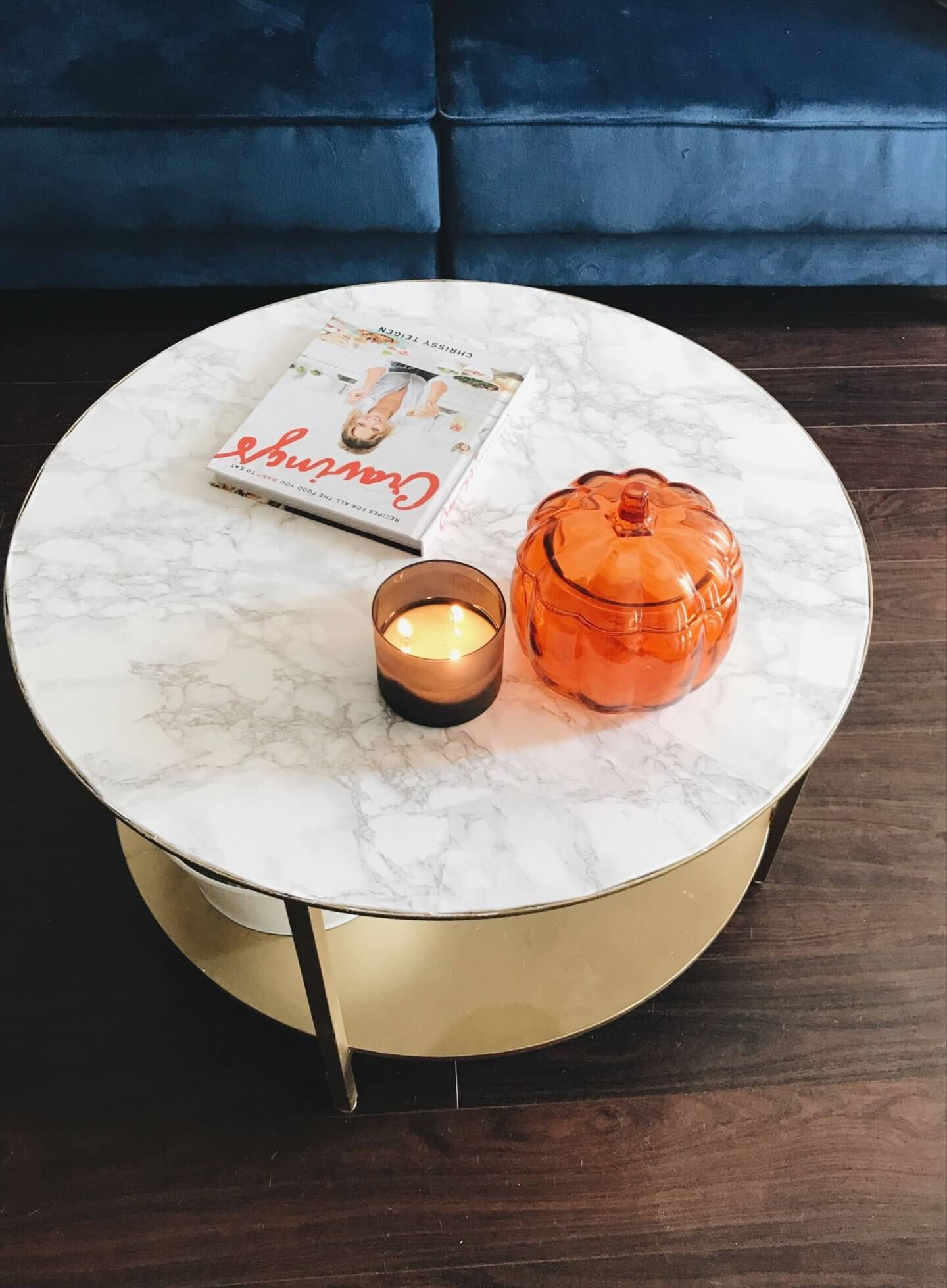 Ikea Hack Gold And White Marble Diy Coffee Table