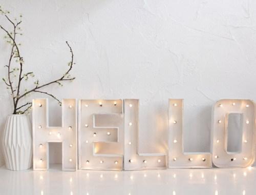 DIY lettres lumineuses