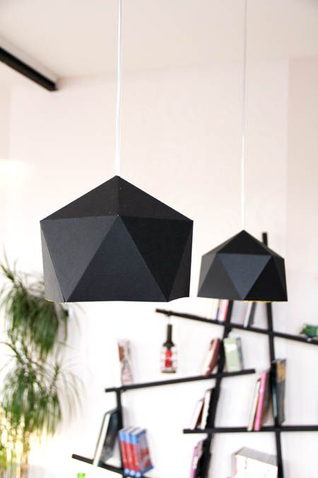 suspension origami g om trique h ll blogzine. Black Bedroom Furniture Sets. Home Design Ideas