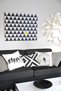10 id es de d co en noir et blanc faire soi m me. Black Bedroom Furniture Sets. Home Design Ideas