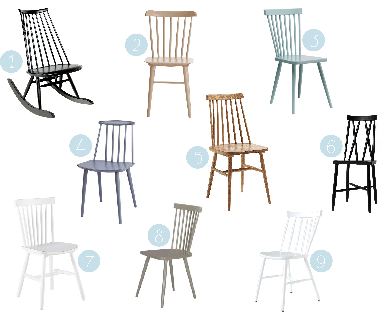 o trouver une chaise barreaux scandinave. Black Bedroom Furniture Sets. Home Design Ideas