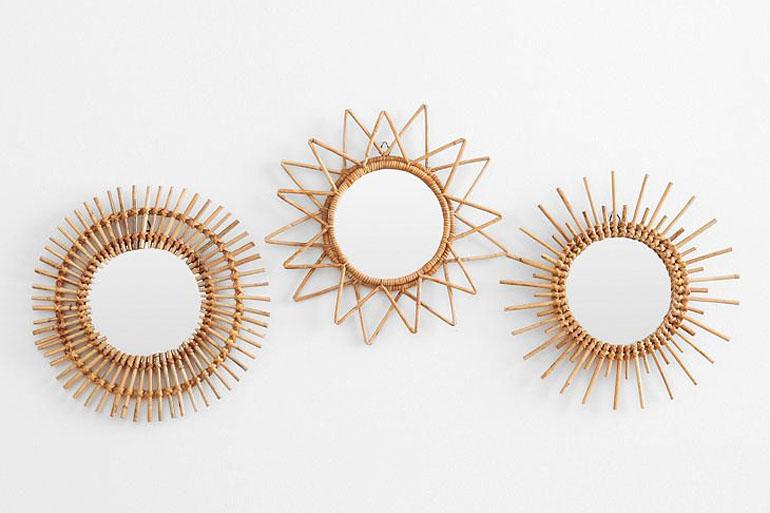 Best of les pi ces vintage chiner h ll blogzine for Petit miroir soleil